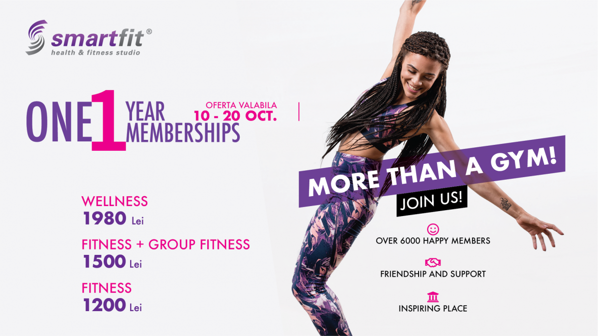 One Year memberships - Smartfit, more than a gym!